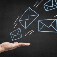 Chalk picture, send mail, envelope